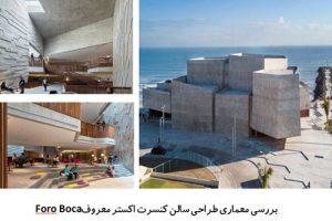"<span itemprop=""name"">پاورپوینت بررسی معماری طراحی سالن کنسرت اکستر معروف Foro Boca</span>"