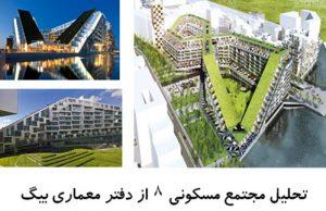 پاورپوینت تحلیل مجتمع مسکونی 8 از دفتر معماری بیگ