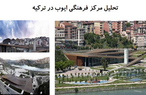 پاورپوینت تحلیل مرکز فرهنگی ایوب در ترکیه