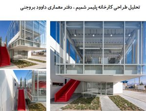 "<span itemprop=""name"">پاورپوینت تحلیل طراحی کارخانه پلیمر شمیم ، دفتر معماری داوود بروجنی</span>"