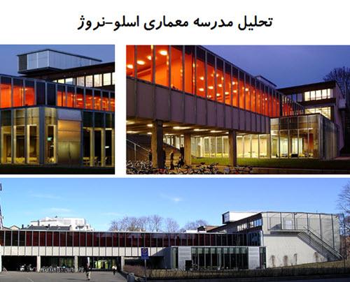 پاورپوینت تحلیل مدرسه معماری اسلو نروژ