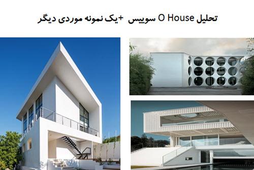 پاورپوینت تحلیل O House سوییس + یک نمونه موردی دیگر