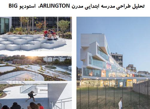 پاورپوینت تحلیل طراحی مدرسه ابتدایی مدرن ARLINGTON